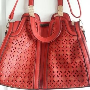 Michael Kors Red Shoulder Bag